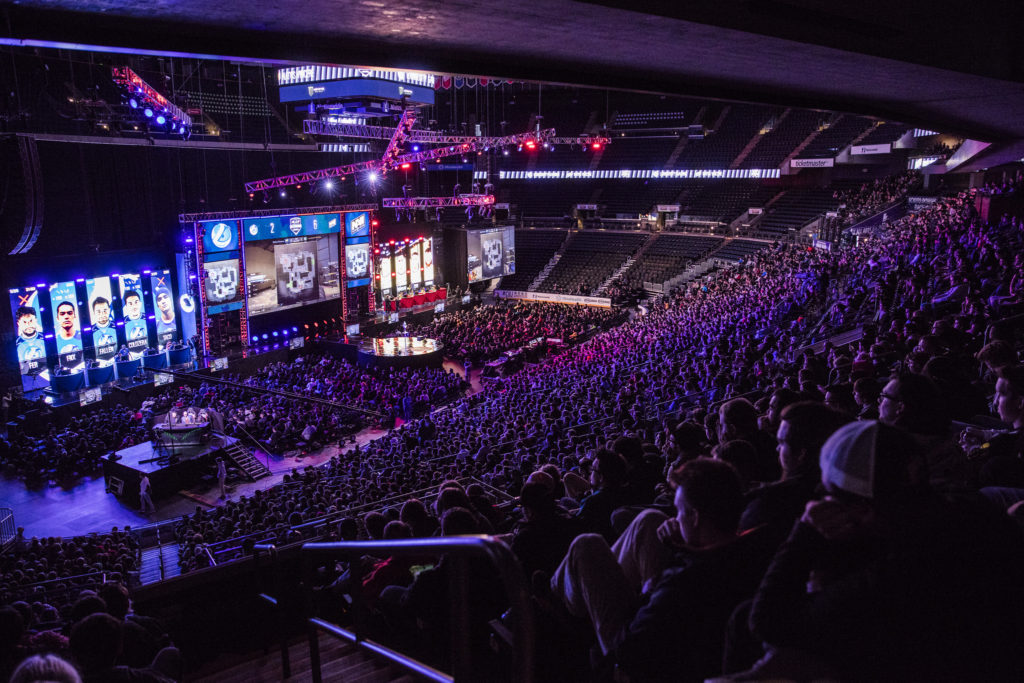 Esports Management Program Header; crowd in a large esports arena