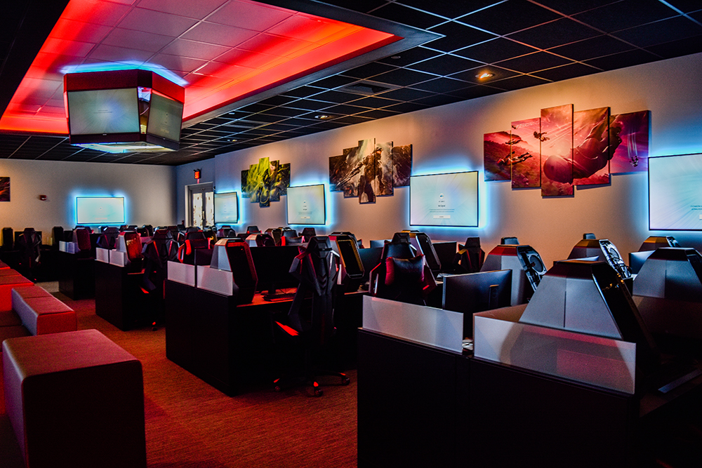 The Esports Arena in CMCC's Kirk Hall